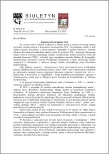 Biuletyn Koła Miłośników Dziejów Grudziądza 2010, Rok VIII, nr 1(230): Kalendarz Grudziądzki 2010