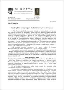 BiulBiuletyn Koła Miłośników Dziejów Grudziądza 2010, Rok VIII, nr 8(237): Grudziądzkie pamiątki po 7. Pułku Pancernym we Włoszech