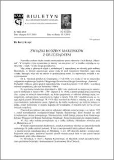 Biuletyn Koła Miłośników Dziejów Grudziądza 2010, Rok VIII, nr 9(238): Dr Kazimierz Mężyński (1904-1983) - zapomniany badacz dziejów menonitów w okolicach Grudziądza.