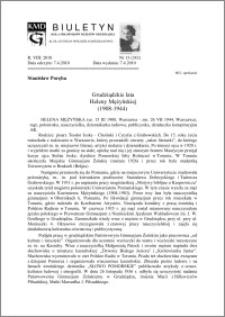 Biuletyn Koła Miłośników Dziejów Grudziądza 2010, Rok VIII, nr 13(242): Grudziądzkie lataHeleny Mężyńskiej (1908-1944)