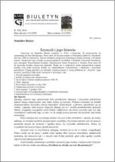 Biuletyn Koła Miłośników Dziejów Grudziądza 2010, Rok VIII, nr 14(243): Szynych i jego historia