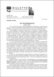 Biuletyn Koła Miłośników Dziejów Grudziądza 2010, Rok VIII, nr 15(244): Inż. Józef Handzelewicz (1880-1963)