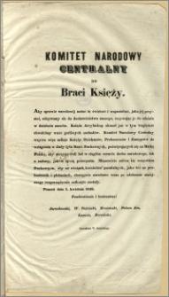 Komitet Narodowy Centralny do Braci Księży