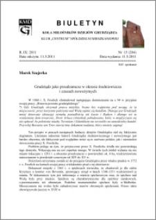 Biuletyn Koła Miłośników Dziejów Grudziądza 2011, Rok IX, nr 15(284): Grudziądz jako przedzamcze w okresie średniowiecza i czasach nowożytnych
