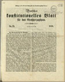 Deutsches konstitutionelles Blatt für das Grossherzogthum, 1848.05.14, nr 23