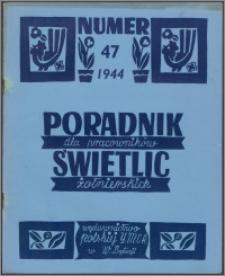 Poradnik dla Pracowników Świetlic Żołnierskich : wydawnictwo Polskiej YMCA w W. Brytanii 1944, nr 47