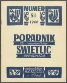 Poradnik dla Pracowników Świetlic Żołnierskich : wydawnictwo Polskiej YMCA w W. Brytanii 1944, nr 51