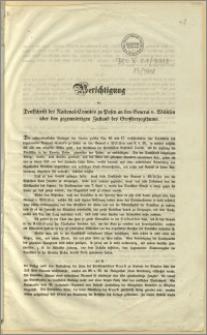 Berichtigung der Denkschrift des National-Comités zu Posen an den General v. Willisen über den gegenwärtigen Zustand des Grossherzogthums. Bromberg, den 17. April 1848