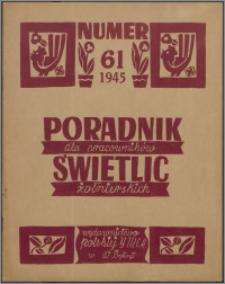 Poradnik dla Pracowników Świetlic Żołnierskich : wydawnictwo Polskiej YMCA w W. Brytanii 1945, nr 61