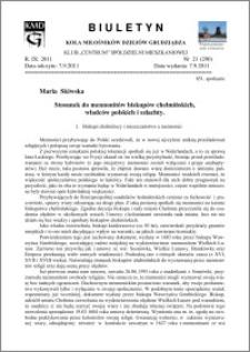 Biuletyn Koła Miłośników Dziejów Grudziądza 2011, Rok IX, nr 21(290): Stosunek do mennonitów biskupów chełmińskich, władców polskich i szlachty.