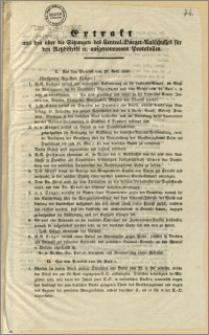 Extrakt aus den über die Sitzungen des Central-Bürger-Ausschusses für den Netzdistrikt u. aufgenommenen Protokollen. [Incipit] I. Aus dem Protokoll vom 27. April 1848