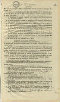Ew. u. theilen wir folgende Punkte zur Kenntnisnahme und resp. zur weiteren schleunigsten Veranlassung mit (...) : Bromberg, den 19. April 1848