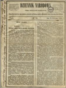 Dziennik Narodowy : pismo poświęcone rozprawom politycznym, historycznym i literackim, krajowym i zagranicznym, 1848.04.28, nr 22