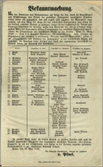 Bekanntmachung. [Incipit] Um den Hunderten von Reclamationen auf Ersatz [...]. Posen, den 30. Mai 1848