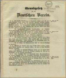 Grundgesetz für den Deutschen Verein : Bromberg, den 2. Dezember 1848