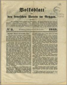 Volksblatt für den deutschen Verein im Netzgau, 1849.01.13, nr 2