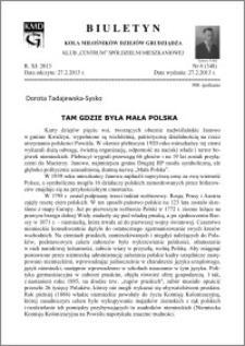 Biuletyn Koła Miłośników Dziejów Grudziądza 2013, Rok XI, nr 8(348): Tam gdzie była mała Polska