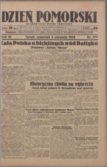 Dzień Pomorski 1932.08.04, R. 4 nr 177