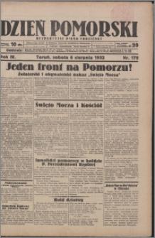 Dzień Pomorski 1932.08.06, R. 4 nr 179