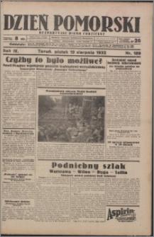 Dzień Pomorski 1932.08.19, R. 4 nr 189
