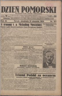 Dzień Pomorski 1932.08.21, R. 4 nr 191