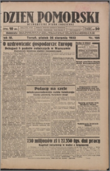 Dzień Pomorski 1932.08.26, R. 4 nr 195