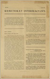 Komunikat Informacyjny: No. 122 (15.III.18)