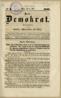 Der Demokrat. Herausgegeben von Vaader, Massaloup und Wiss, No 3, 27. Mai. 1848