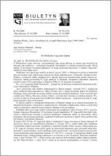Biuletyn Koła Miłośników Dziejów Grudziądza 2009, Rok 7, nr 30(222) : Dr Władysław Łęga jako kapłan