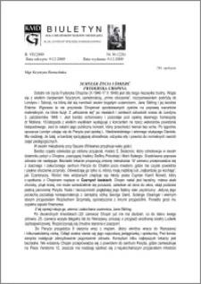 Biuletyn Koła Miłośników Dziejów Grudziądza 2009, Rok 7, nr 36(228) : Schyłek życia i śmierć Fryderyka Chopina