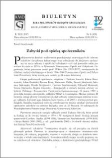 Biuletyn Koła Miłośników Dziejów Grudziądza 2015, Rok XIII, nr 8(420) : Zabytki pod opieką społeczników