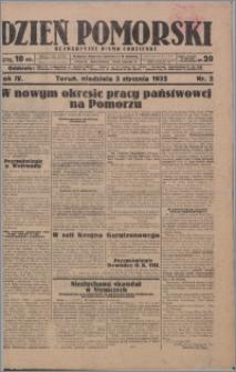 Dzień Pomorski 1932.01.03, R. 4 nr 2