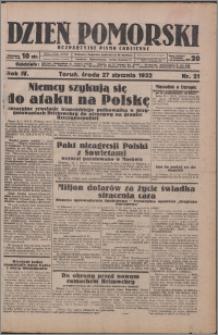 Dzień Pomorski 1932.01.27, R. 4 nr 21
