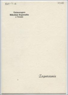 Zaproszenie na sesję naukową Uniwersytetu M. Kopernika ku uczczeniu 150 rocznicy urodzin Puszkina ... 24 i 24 stycznia 1950 r