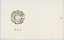[Zaproszenie. Incipit] Dziekan Wydziału Sztuk Pięknych Uniwersytetu Mikołaja Kopernika w Toruniu ma zaszczyt zaprosić na uroczystą Radę Wydziału z okazjii XXV-lecia ... 19 stycznia 1971 roku