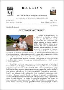 Biuletyn Koła Miłośników Dziejów Grudziądza 2014, Rok XII, nr 17(392): Spotkanie autorskie