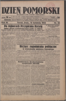 Dzień Pomorski 1932.04.13, R. 4 nr 85