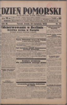 Dzień Pomorski 1932.04.20, R. 4 nr 91
