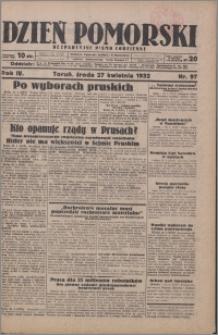 Dzień Pomorski 1932.04.27, R. 4 nr 97