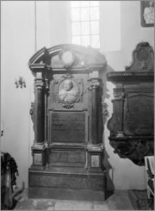 Krzemienica. Kościół pw. Św. Jakuba Apostoła. Nagrobek Wawrzyńca Lipskiego