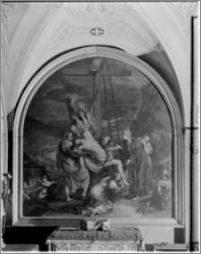 Kalwaria Zebrzydowska. Kaplica Ukrzyżowania. Stacja: Zdjęcie z krzyża