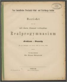 Von Conradisches Provinzial-Schul- und Erziehungs-Institut Bericht über das mit einem Alumnat verbundene Realprogymnasium zu Jenkau bei Danzig für das Schuljahr von Ostern 1888 bis Ostern 1889