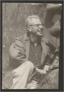 Stanisław Kiałka na wędrownych wczasach w górach