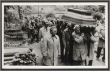 Rodzina na pogrzebie Stanisława Kiałki