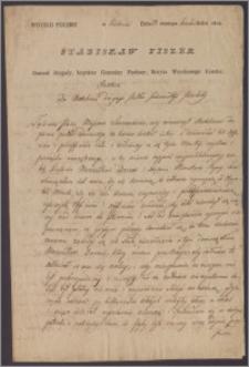 Stanisław Fiszer generał brygady, inspektor generalny piechoty, wydaje rozkaz do Batalionu Drugiego Pułku 11 Piechoty. Zalecenia przekazano majorowi Janowi Sierawskiemu w związku z przeprowadzoną inspekcją