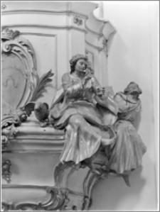 Lublin. Kościół karmelitów trzewiczkowych św. Eliasza Proroka. Wnętrze. Ambona-fragment