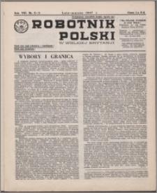 Robotnik Polski w Wielkiej Brytanji 1947, R. 8 nr 2-3