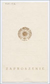 [Zaproszenie. Incipit] Rektor i Senat Uniwersytetu Mikołaja Kopernika w Toruniu uprzejmie zapraszają na uroczyste spotkanie z okazji Dnia Nauczyciela ... 22 X 1980 r