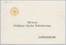 [Zaproszenie. Incipit] Rektor i Senat Uniwersytetu Mikołaja Kopernika w Toruniu mają zaszczyt zaprosić na sesję naukową poświęconą dziejom ruchu robotniczego na Pomorzu w XIX i XX wieku ... 27 października 1982 roku