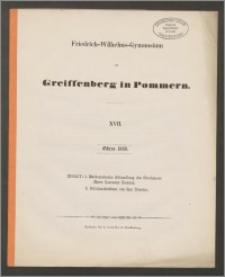 Friedrich-Wilhelms-Gymnasium zu Greiffenberg in Pommern. XVII